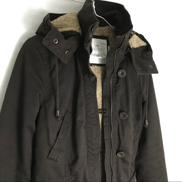 b6a7a43e H&M Jackets & Coats   Hm Logg Canvas Jacket With Detachable Hood 2 ...